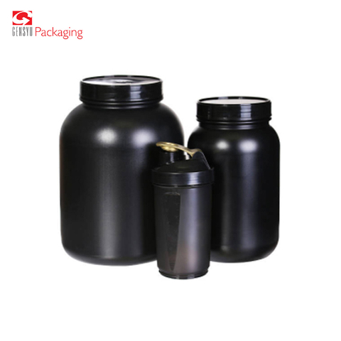 Plastic Whey Protein Powder Jars Storage Jar And Supplement Container