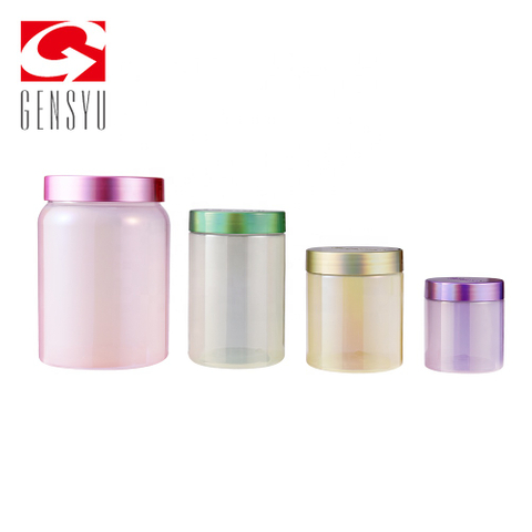 Plastic Food Iridescent Canister with Lids