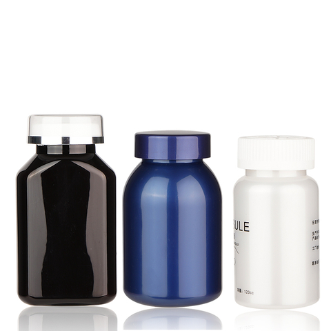 Colorful Plastic Medicine Bottle with Screw Cap