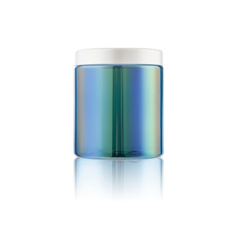 Chrome Plastic Sports Nutrition Iridescent Canister