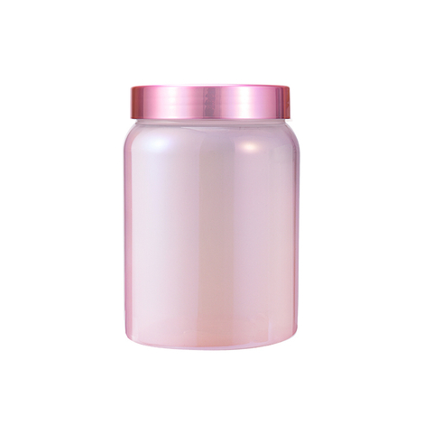 China Supplier GENSYU Factory Price Colorful Empty Sports Nutrition Packaging Iridescent Protein Powder Canister
